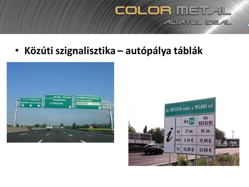 Közúti szignalisztika – autópálya táblák