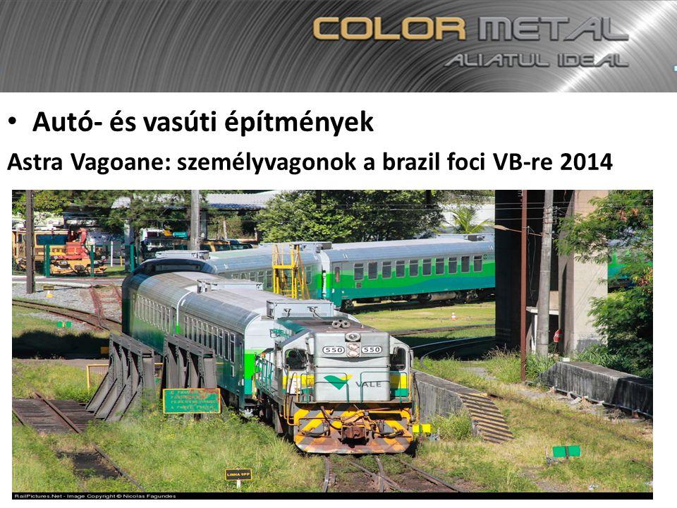 Autó- és vasúti építmények Astra Vagoane: személyvagonok a brazil foci VB-re 2014