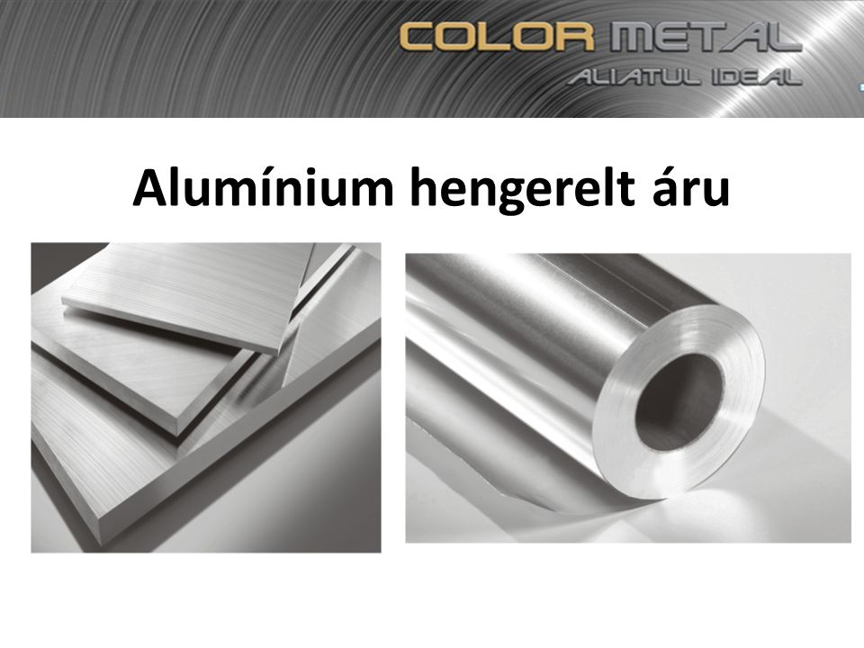 Alumínium hengerelt áru