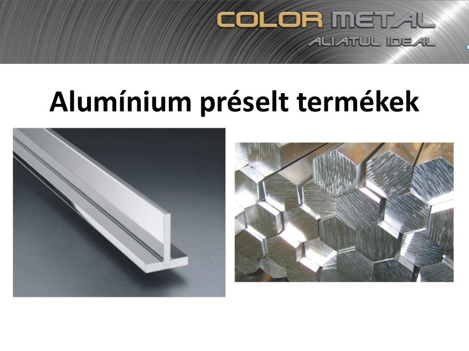 Alumínium préselt termékek