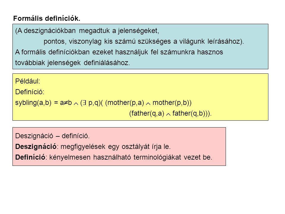 Formális definíciók.
