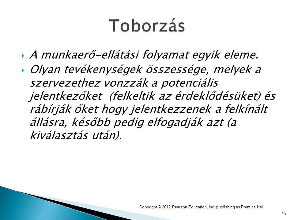 7-2  A munkaerő-ellátási folyamat egyik eleme.