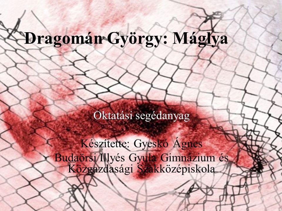 Dragomán György: Máglya Oktatási segédanyag Készítette: Gyeskó Ágnes Budaörsi Illyés Gyula Gimnázium és Közgazdasági Szakközépiskola