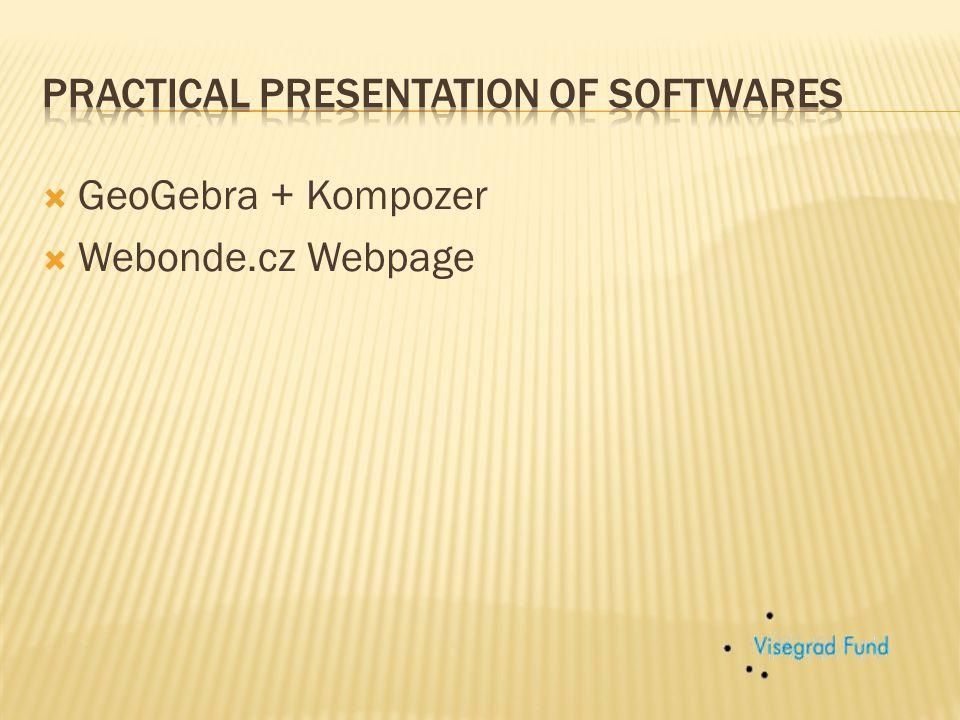  GeoGebra + Kompozer  Webonde.cz Webpage
