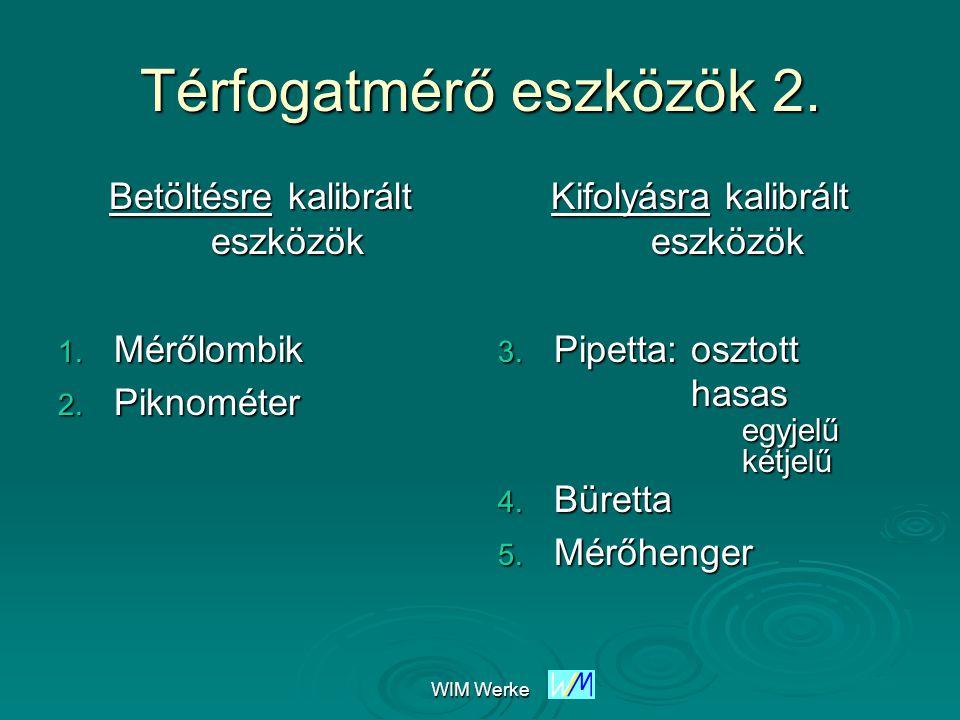 WIM Werke Térfogatmérő eszközök 3.