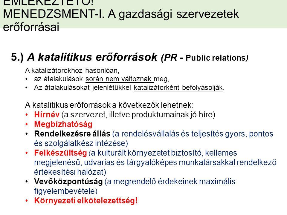 EMLÉKEZTETŐ. MENEDZSMENT-I.