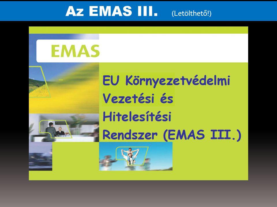 EMAS - rendszer bevezetésének lépései