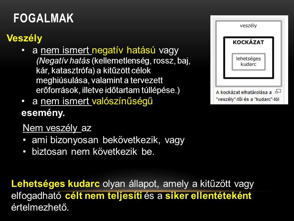 KOCKÁZAT-ÉRTÉKELÉSI SZEMPONTOK (FOLYTATÁS1) ( FORRÁS: ROWE, 1977) II.