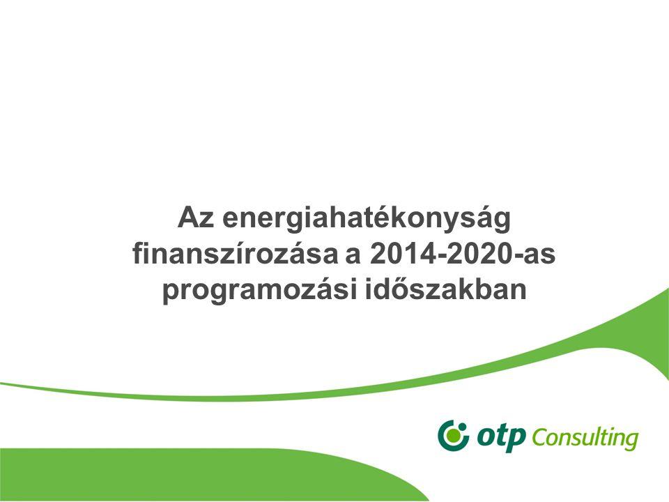 Az energiahatékonyság finanszírozása a 2014-2020-as programozási időszakban