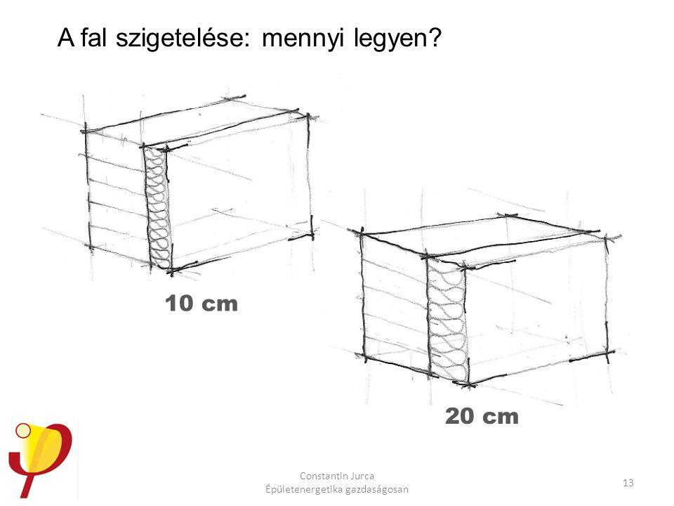 Constantin Jurca Épületenergetika gazdaságosan 13 A fal szigetelése: mennyi legyen? 10 cm 20 cm