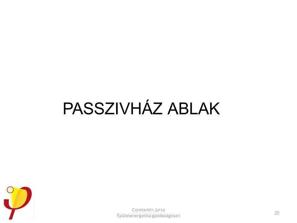 Constantin Jurca Épületenergetika gazdaságosan 25 PASSZIVHÁZ ABLAK
