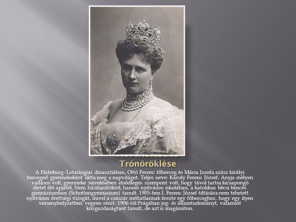 A Habsburg–Lotaringiai dinasztiában, Ottó Ferenc főherceg és Mária Jozefa szász királyi hercegnő gyermekeként látta meg a napvilágot.