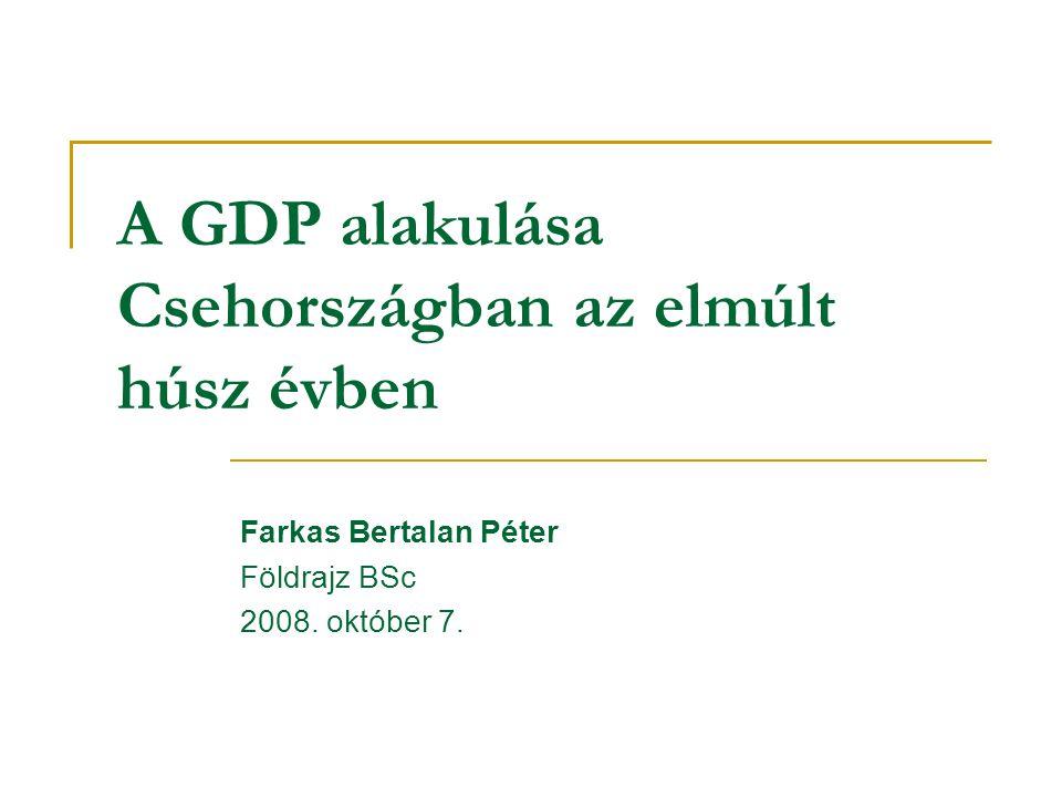 A GDP alakulása Csehországban az elmúlt húsz évben Farkas Bertalan Péter Földrajz BSc 2008.