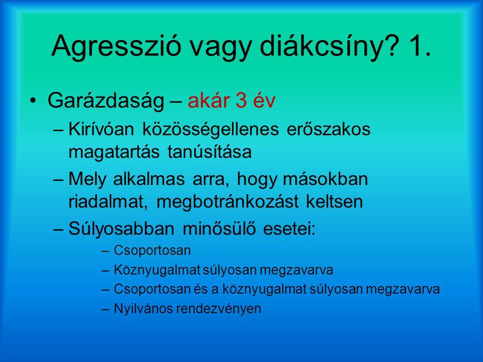 Agresszió vagy diákcsíny.1.
