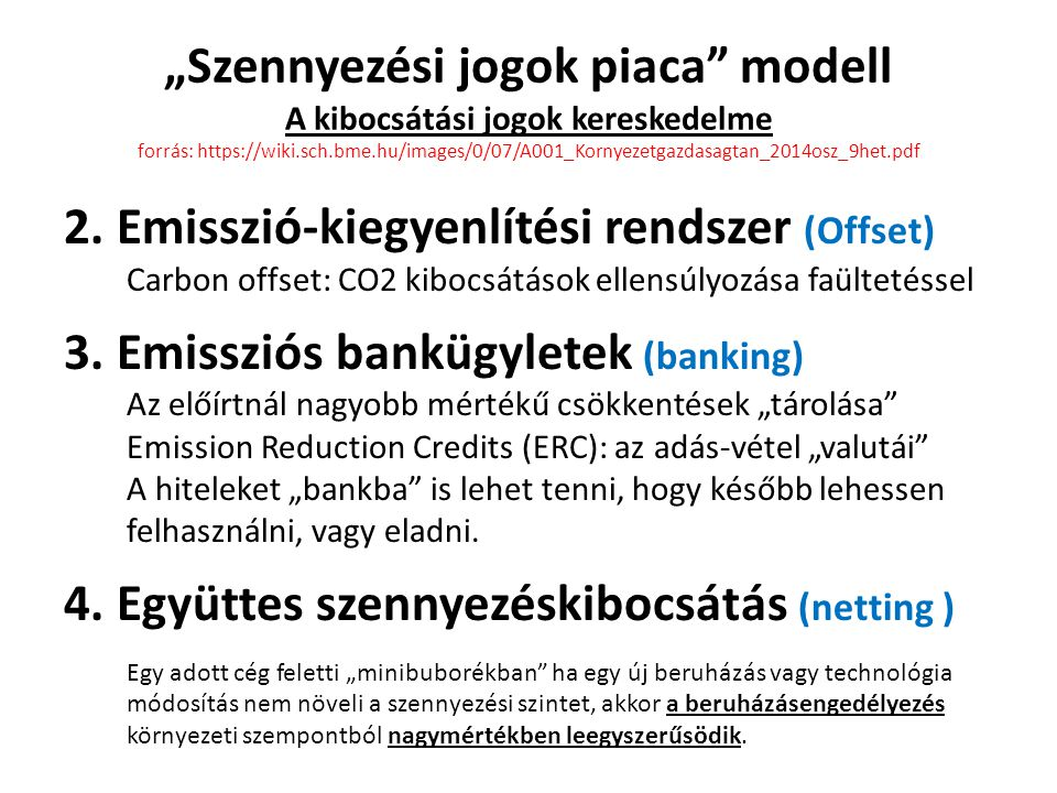 """""""Szennyezési jogok piaca modell A kibocsátási jogok kereskedelme forrás: https://wiki.sch.bme.hu/images/0/07/A001_Kornyezetgazdasagtan_2014osz_9het.pdf 2."""