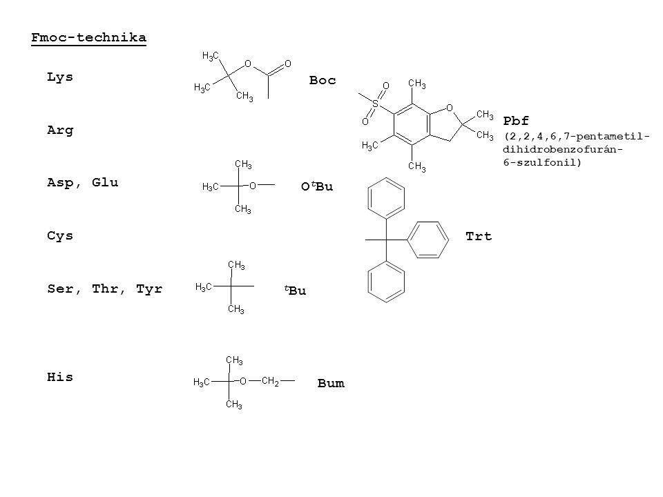 Fmoc-technika Lys Arg Asp, Glu Cys Ser, Thr, Tyr His Boc t Bu O t Bu Trt Bum Pbf (2,2,4,6,7-pentametil- dihidrobenzofurán- 6-szulfonil)