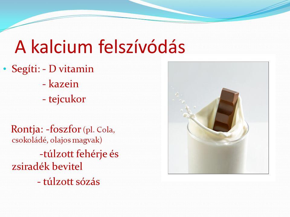 A megfelelő kalciumbevitel lassítja a csonttömeg fogyást.