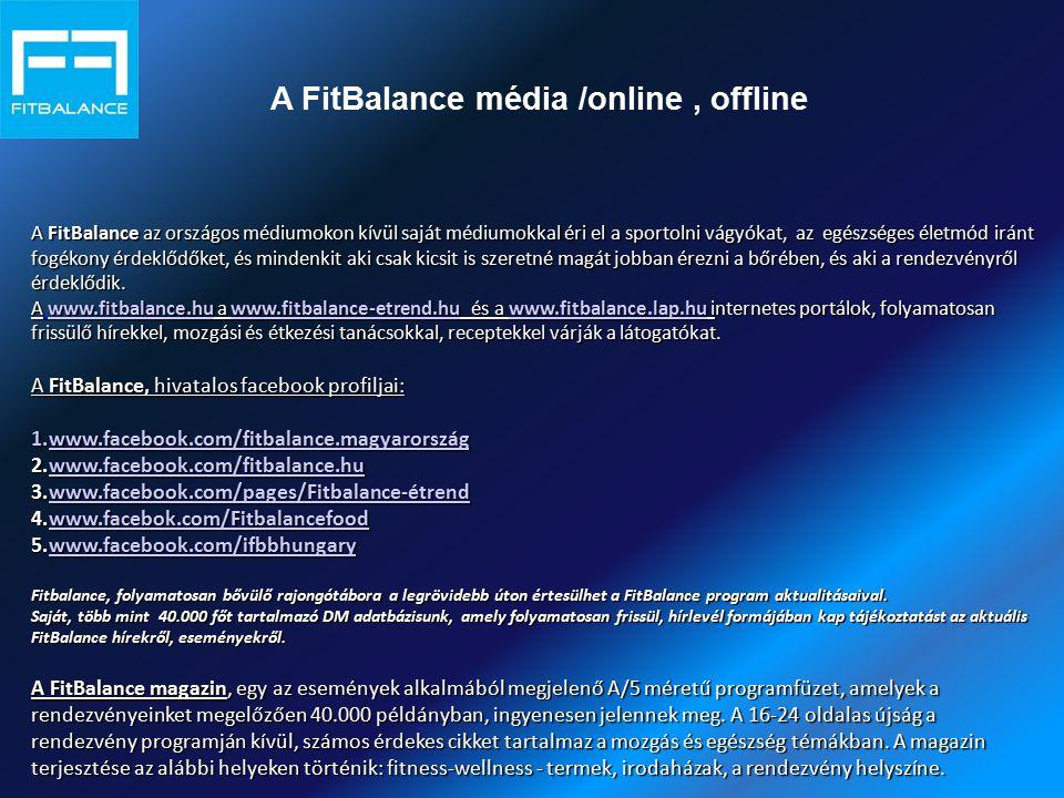A FitBalance média /online, offline A FitBalance az országos médiumokon kívül saját médiumokkal éri el a sportolni vágyókat, az egészséges életmód irá