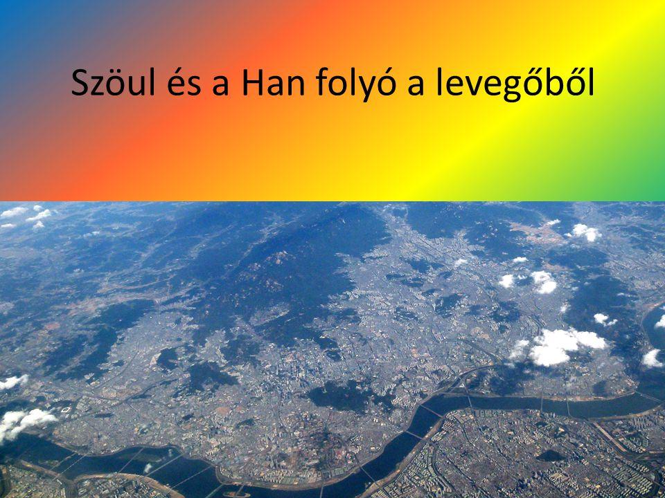 Szöul és a Han folyó a levegőből