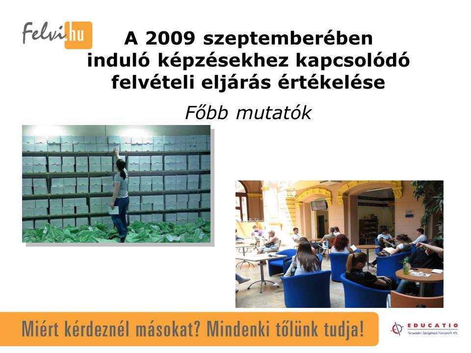 Felvettek száma korosztályonként 2006-2009