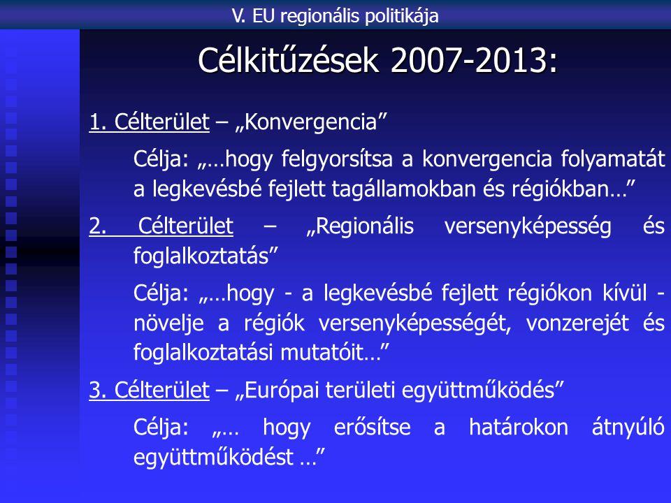 Célkitűzések 2007-2013: 1.