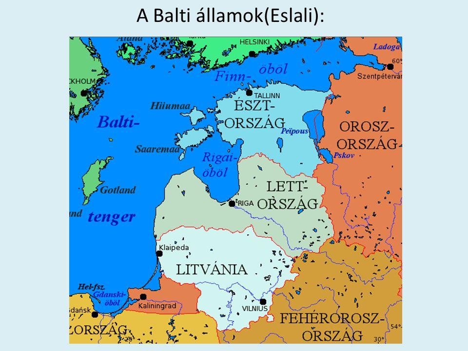 Baltikumi valóság A Baltikum erősen orosz befolyási övezet (volt).