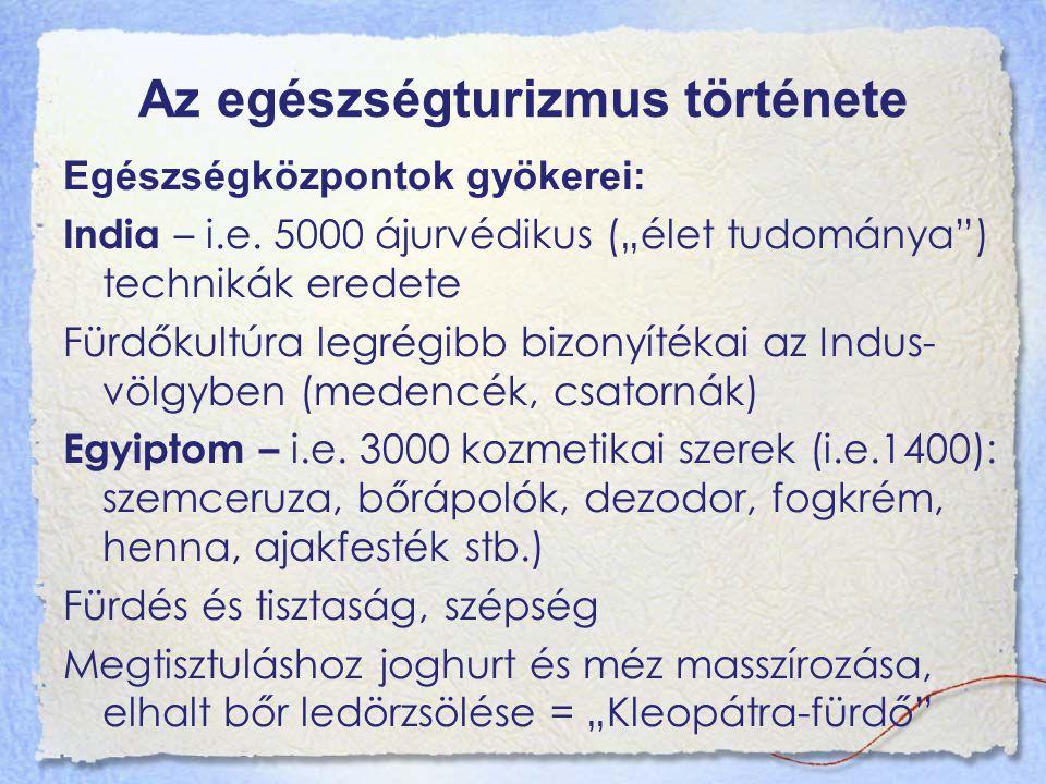 Egészségturizmus története – XX.sz.