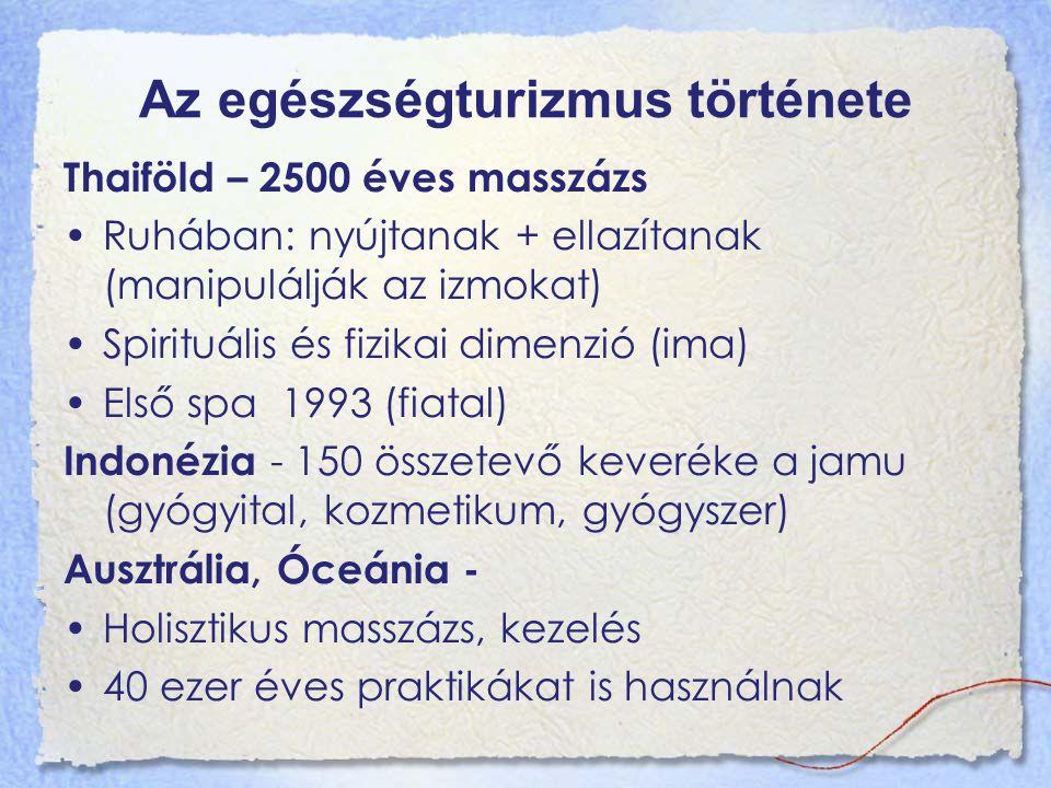 """Az egészségturizmus története Görögország – hidroterápia ( víz orvosi felhasználása) Hippokratész – a vízkúrák a gyógyítás alapvető elemei közé tartoznak """"…végtére is még mindig a víz a legjobb i.e."""
