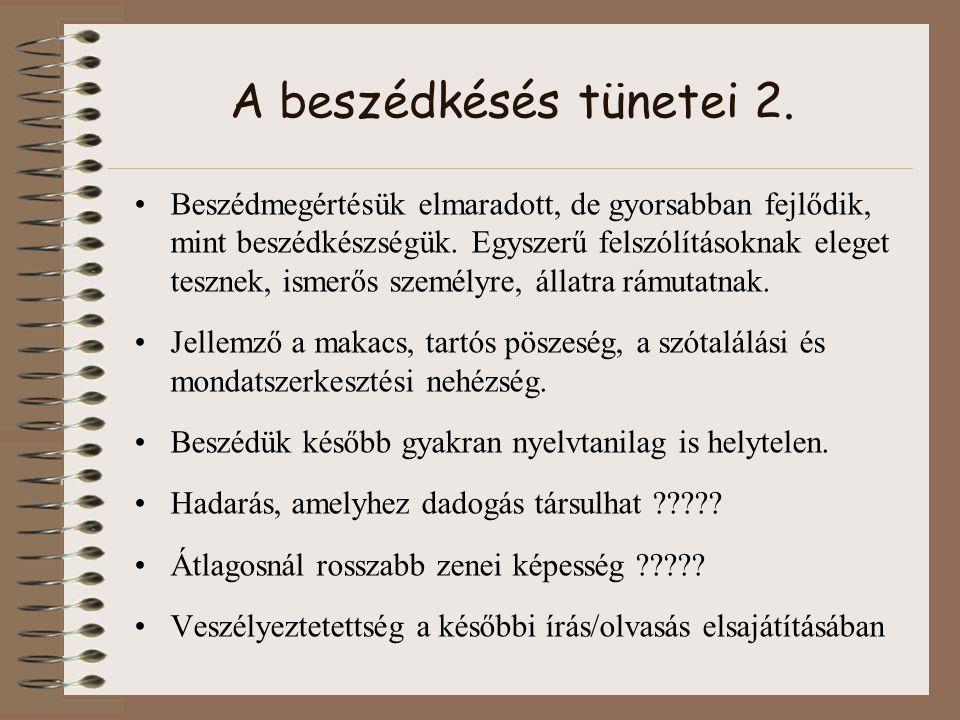"""Ajánlott és felhasznált irodalom """"…Hogy szebben beszéljen… Szülőknek a beszédhibákról, OPI, Budapest, 1982."""