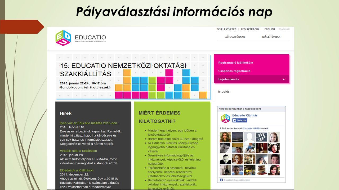 Pályaválasztási információs nap December EDUCATIO