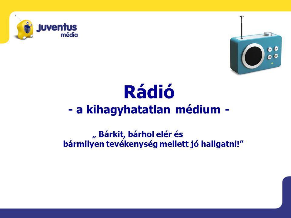 """Rádió - a kihagyhatatlan médium - """" Bárkit, bárhol elér és bármilyen tevékenység mellett jó hallgatni!"""