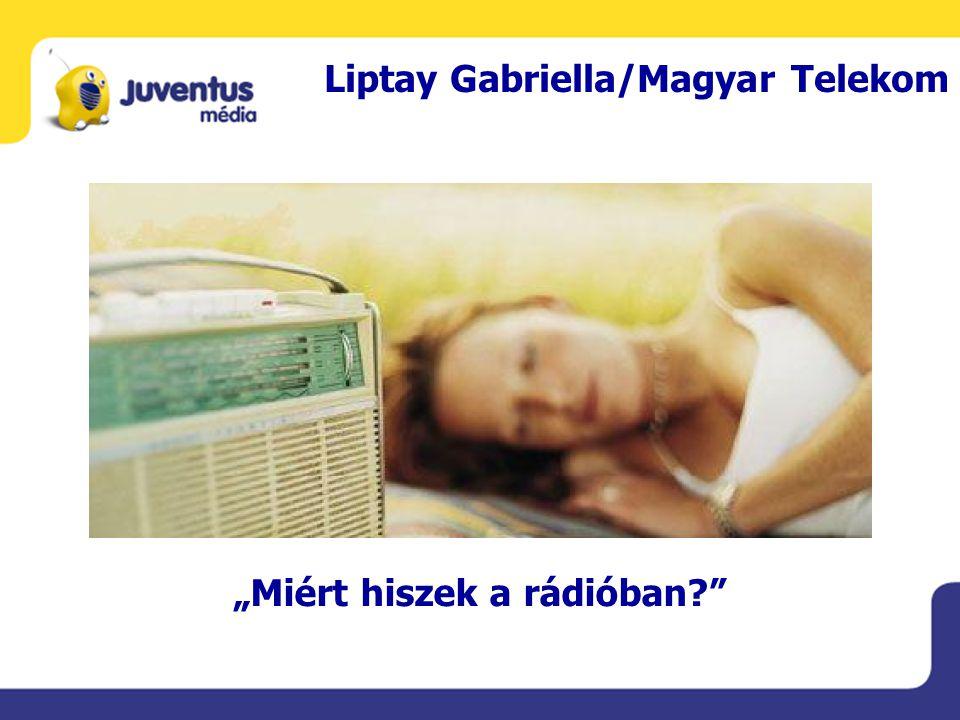 """Liptay Gabriella/Magyar Telekom """"Miért hiszek a rádióban"""