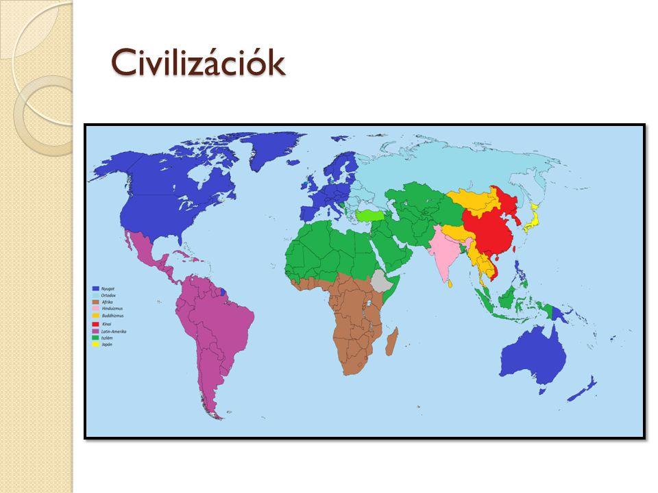 A világ vallásainak százalékos megoszlása