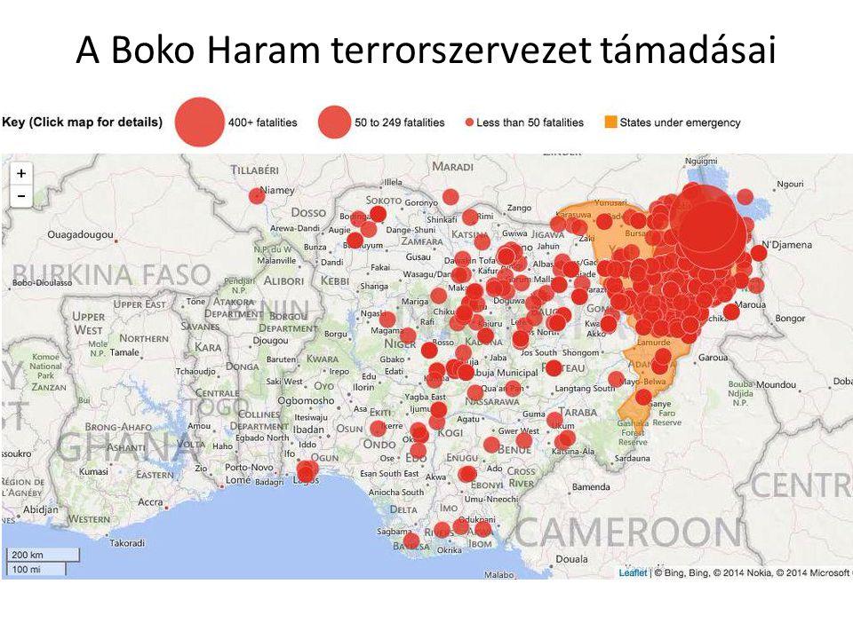 A Boko Haram terrorszervezet támadásai