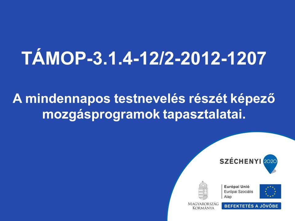 TÁMOP-3.1.4-12/2-2012-1207 A mindennapos testnevelés részét képező mozgásprogramok tapasztalatai.
