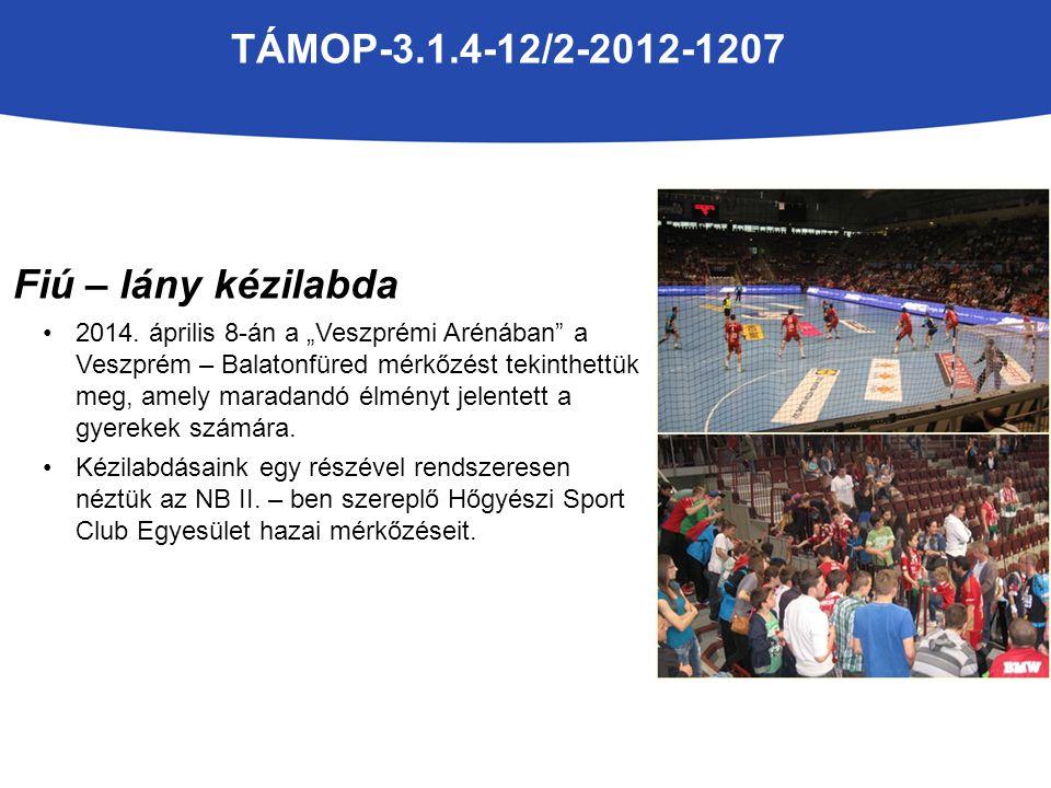 TÁMOP-3.1.4-12/2-2012-1207 A programnak köszönhető eredményeink: Diákolimpián labdarúgásban a Tamási Városkörnyéki döntőn két korcsoportban első, két korcsoportban második helyezést értünk el.