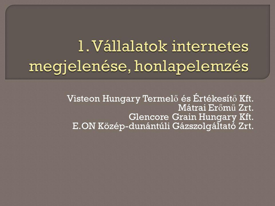 Visteon Hungary Termel ő és Értékesít ő Kft.Mátrai Er ő m ű Zrt.