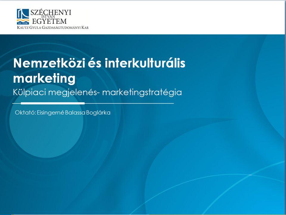 Oktató: Eisingerné Balassa Boglárka Nemzetközi és interkulturális marketing Külpiaci megjelenés- marketingstratégia