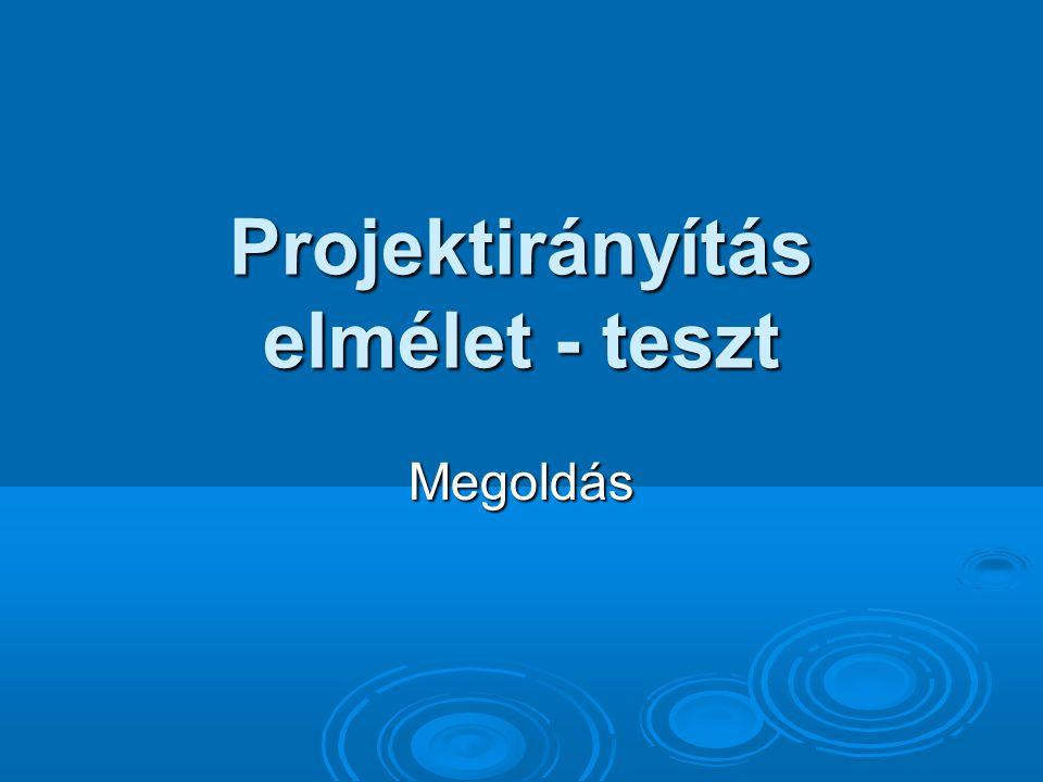 1.Milyen részei vannak a projektdefiníciós dokumentumnak.