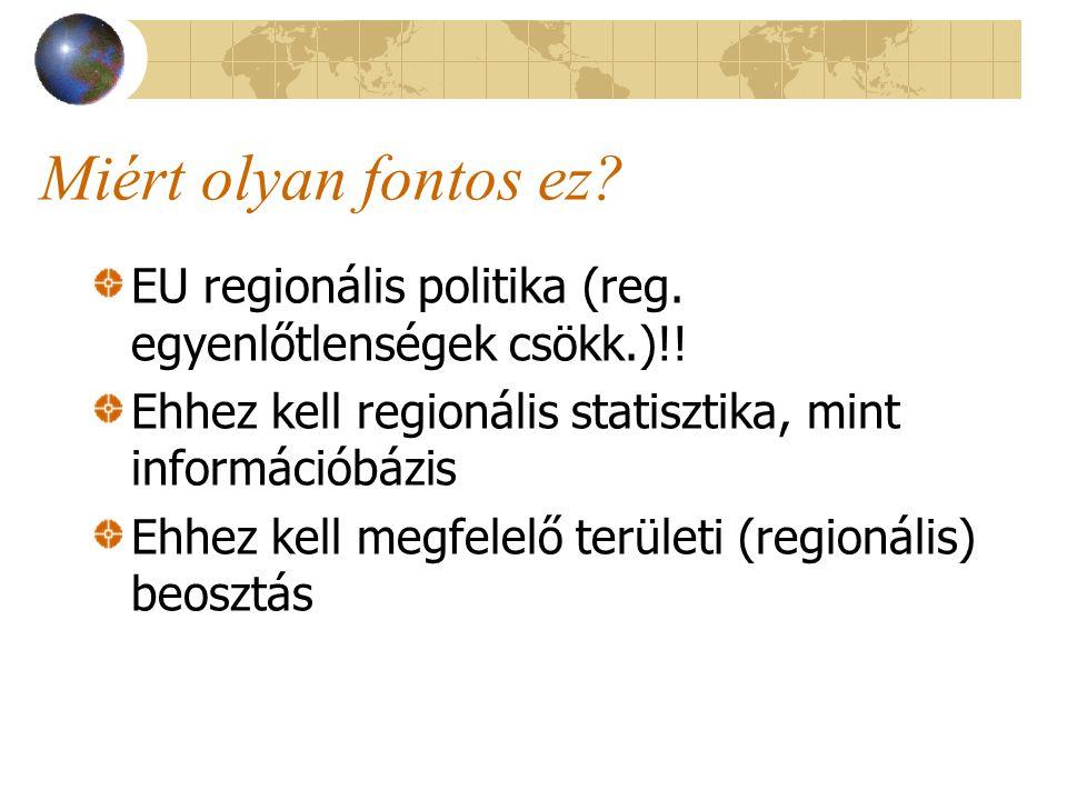 Miért olyan fontos ez. EU regionális politika (reg.