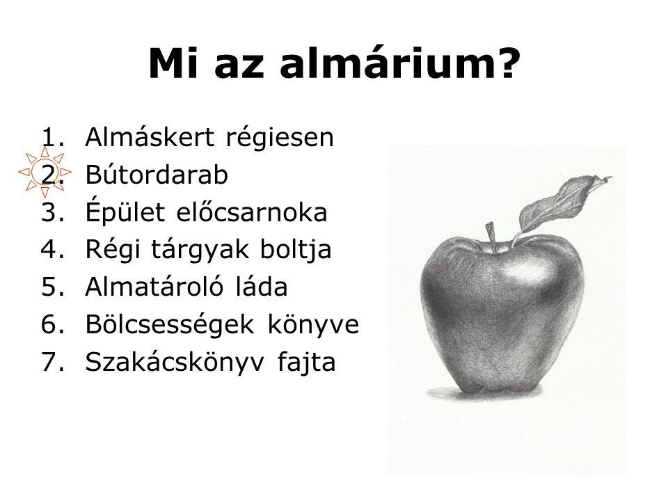 Mi az almárium.