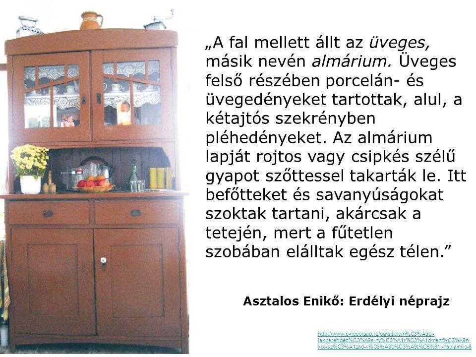Almárium Székelyföld, 19. sz. vége, festett fenyőfa 225x165x57 cm Nagyházi Galéria és Aukcióház