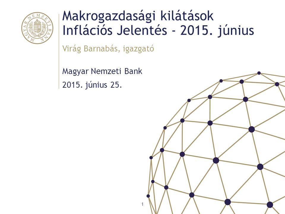 Makrogazdasági kilátások Inflációs Jelentés - 2015. június Magyar Nemzeti Bank Virág Barnabás, igazgató 1 2015. június 25.
