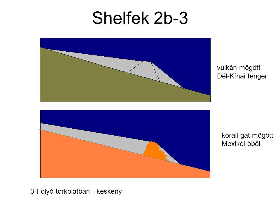 Shelfek 2b-3 vulkán mögött Dél-Kínai tenger korall gát mögött Mexikói öböl 3-Folyó torkolatban - keskeny