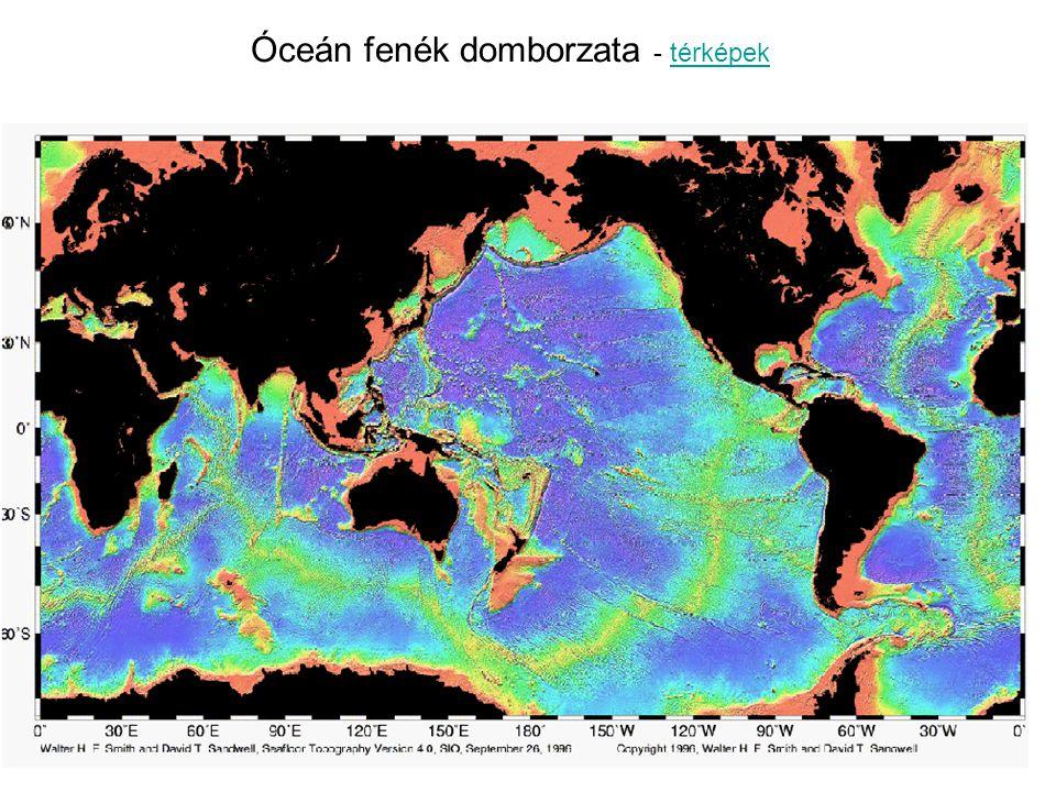 Óceán fenék domborzata - térképektérképek