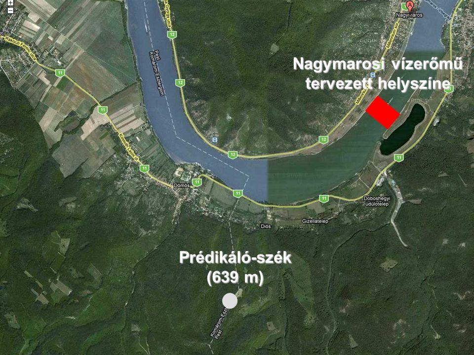 Nagymarosi vízerőmű tervezett helyszíne Prédikáló-szék (639 m)