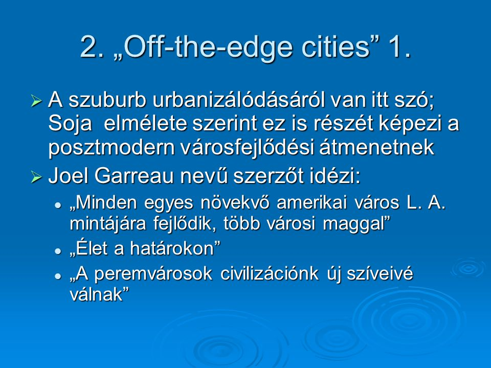 "2. ""Off-the-edge cities 1."