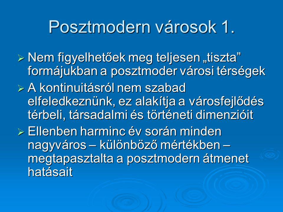 Posztmodern városok 1.