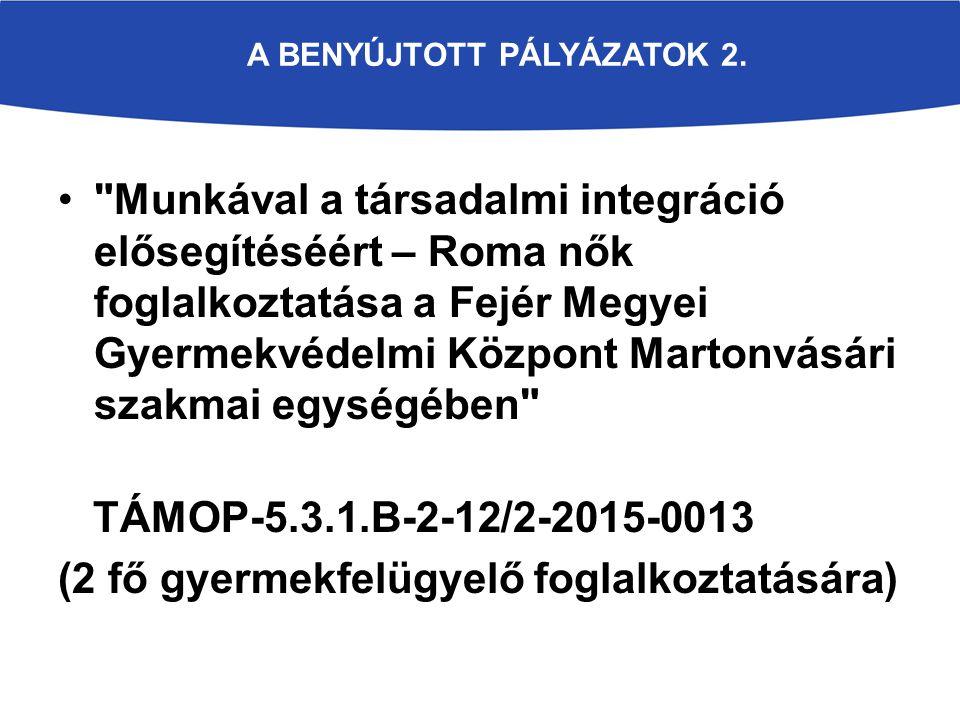 A BENYÚJTOTT PÁLYÁZATOK 2.