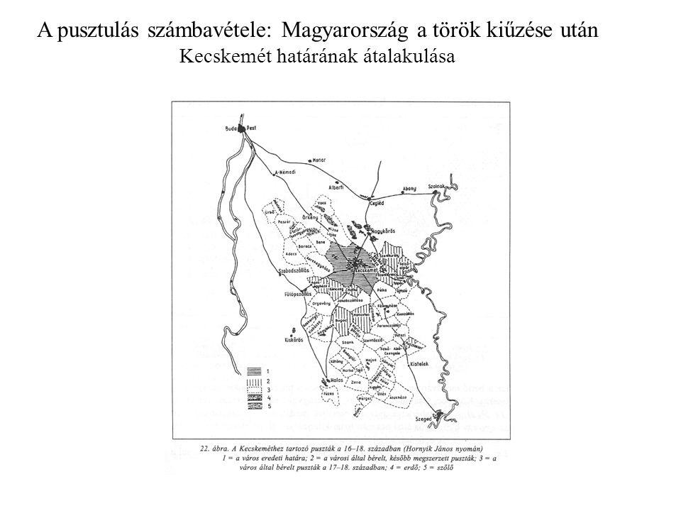 A pusztulás számbavétele: Magyarország a török kiűzése után Az alföldi mezővárosok kialakulása Sajátos településszerkezet: a kétbeltelkes (vagy ólaskertes) település –A mezőgazdasági tevékenység elválik a belső telektől és a település szélén kialakuló övbe települ.